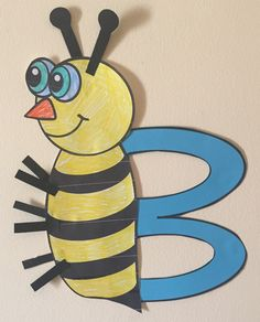 Letter B Art Activity Templates- B is for Bee Art Kids Learning Activities, Alphabet Activities, Art Template, Templates, Bee Bee, Letter Identification, Letter Of The Week, Letter B, First Art