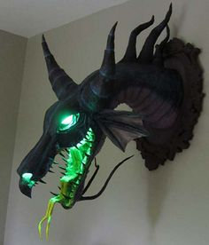 Paper mache Maleficent trophy from Sleeping Beauty. This guys work is awesome!