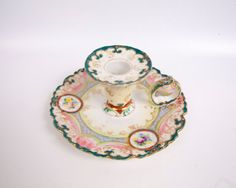 Antique Nippon Chamber Candle Holder NPSK Dow by LeVintageGalleria