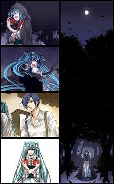 Tags: Vocaloid, Hatsune Miku, KAITO, Evillious Chronicles, Original Sin Series, Moonlit Bear, Eve Moonlit, Adam Moonlit