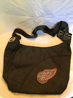 d418f50daaa NHL Detroit Red Wings Black Tote Bag w  Rhinestone Logo