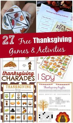 27 Free Printable Thanksgiving Games & Activities