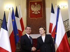 Vidéos. Photos. Conférence de presse Manuel Valls-Ewa Kopacz à la Chancellerie de Varsovie