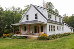 Photo Gallery - Huntington Homes I like the gable end porch here with the timbers showing.