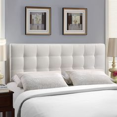 Modway Lily Queen Upholstered Headboard | AllModern