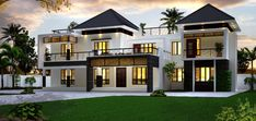 Top 10 beautiful exterior designs everyone will like Acha Homes top 10 beautiful house - House Beautiful Beautiful Home Designs, Cool House Designs, House Beautiful, Beautiful Beautiful, Beautiful Homes, Luxury House Plans, Luxury Homes Dream Houses, House Front Design, Modern House Design