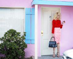 Photographer : Eugenio Recuenco - Madame Figaro Magazine - Fashion - color block - Los Angeles