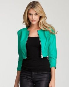 10. A CHIC JACKET OR COVER-UP! - This Bebe Cropped Zipper Leatherette Jacket in Deep Green is perfect for those breezy summer nights. It covers the most needed area (the arms) while still being incredible sassy and hot. Every woman needs a leather, and the pop of color on this one makes it especially glam. This stylish leatherette is the perfect cover up to any outfit, day time or night, and will have all eyes on you, even when you're trying to stay warm. #Bebe #WishesAndDreams