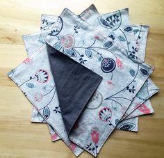 Set of 4 Cloth Napkins by GooseNGosling on Etsy