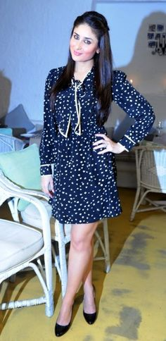 Stylish navy blue dress