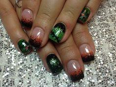 black tip nail designs