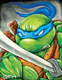 Teenage Mutant Ninja Turtles Leonardo Michaelangelo by GMONIKart