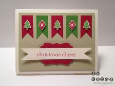 Paper Players Challenge #113 by  jk cards  Stampin' Up!  Banner Punch  Mini