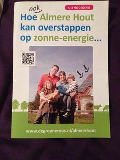 Zonne-energie - Leuk kleurgebruik, vrolijke flyer