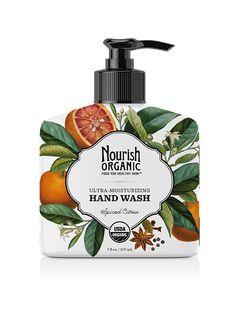 Ultra-Moisturizing Organic Hand Wash, Spiced Citrus, by Nourish Organic. $7.99, 7.8 oz. #crueltyfree #leapingbunny