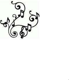 découpe arabesque de note de musique pour scrapbooking carterie....