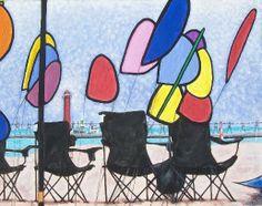 Kite Festival Grand Haven Michigan LIMITED by Watercolorsbywayne, $49.00