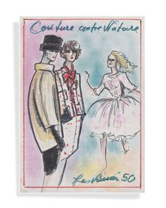 Les années 1950 - illustration Karl Lagerfeld