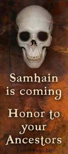 Samhain is coming. Honor to your ancestors. #wicca #witchcraft