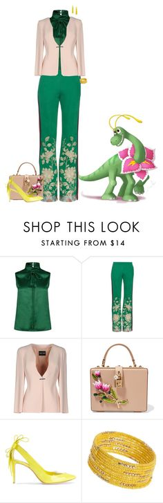 """""""Pokemon's Friends"""" by chileez ❤ liked on Polyvore featuring Dsquared2, Gucci, Giorgio Armani, Dolce&Gabbana, Nicholas Kirkwood, Dorothy Perkins and BaubleBar"""