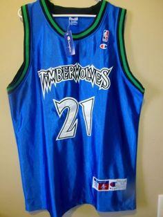 Kevin Garnett - Minnesota Timberwolves NBA Authentic Pro Cut Jersey Sz 52 NWT #Champion #MinnesotaTimberwolves