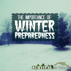 The Importance of Winter Preparedness - Survival at Home Need to read this later.