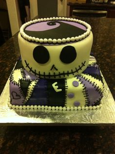 Nightmare Before Christmas Cake Jack Skellington And Sally Baby Shower