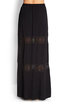 Crochet-Trimmed Maxi Skirt | FOREVER 21 - 2000124173