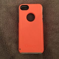 iPhone 5C otter box Used light bluish grey and neon orange case OtterBox Accessories Phone Cases