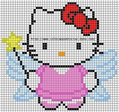 Hello Kitty fairy hama perler beads