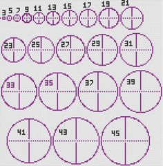 A circle chart is a diagram used as guidelines when making circles. It can be used for...