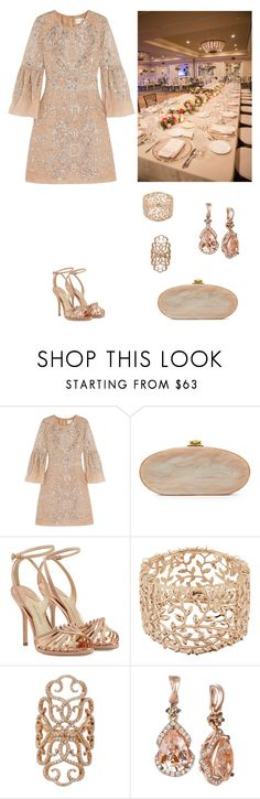 """Invitation to Dinner"" by dezaval ❤ liked on Polyvore featuring Marchesa, Edie Parker, Paul Andrew, Taya, Inbar and LE VIAN"