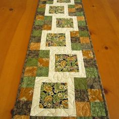 table toppers | Quilted Table Topper Stepping Blocks | PatchworkMountain - Quilts on ...