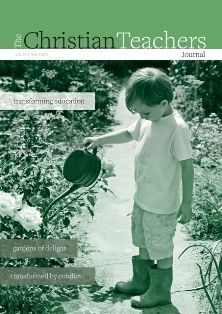 The Christian Teachers Journal is published by teachers and for teachers as a forum for the exchange of ideas and practices to advance the cause of Christ centred education.