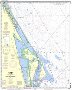 NOAA Nautical Chart 11484: Ponce de Leon Inlet to Cape Canaveral