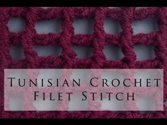 Tunisian Crochet Filet Stitch <3
