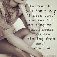 You are missing from me