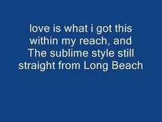 sublime what i got with lyrics