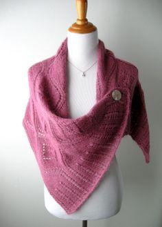 Knitted Mohair Wool Wedding Wrap / Shawl / Poncho by AlmasKnitShop, $150.00
