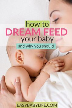 Dream feeding your baby... Here's how to do it, why to try it, what to do if it doesn't work, and eventually how to stop dream feeding. Sweet dreams, new mom! #baby #babysleeptips #newmom #babyfeedingtips Moms Sleep, Baby Sleep, Toddler Sleep, Dream Feeding Baby, Trauma, Baby Care Tips, Baby Tips, Breastfeeding And Pumping, Breastfeeding Support