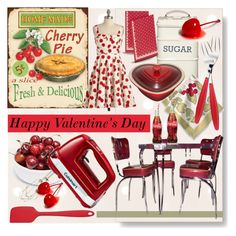 """Group Contest ♥ Happy Valentine's Day! ♥"" by calamity-jane-always ❤ liked on Polyvore featuring interior, interiors, interior design, home, home decor, interior decorating, Kitchen Craft, Guzzini, Le Creuset and Ulster Weavers"