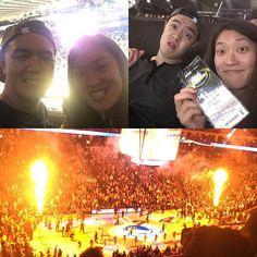 Sibling Warriors game. #gobrooklyn #almosthadit #warriors #keptstreakalive #bayarea #brooklyn #basketball #nba #latepost @friedali23