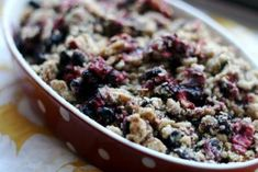 Triple Berry Crisp by Kelsey Nixon