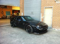 Black Porsche 944 Wide Body