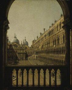 Canaletto, Il cortile del Palazzo Ducale, dalla loggia del 1° piano, 1760. Cambridge, Fitzwilliam Museum.