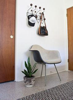 Eames + new thrifted rug