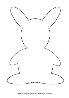 FREE Bunny rabbit template. size aprox. 8.5 inches