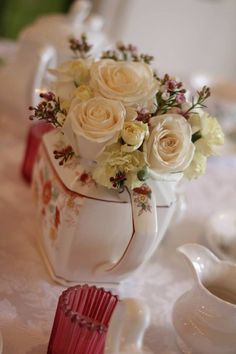 Tea party centerpiece. By Emily Anne