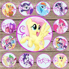 My Little Pony Cupcake Topper! Digital Download! My little Pony Birthday!