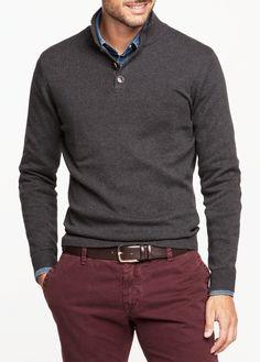 Sweter bawełniany z zamszowymi aplikacjami